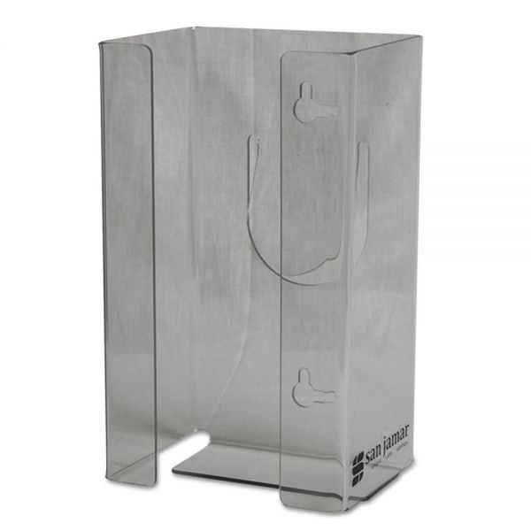 San Jamar Clear Plexiglas Disposable Glove Dispenser, Single-Box, 5 1/2w x 3 3/4d x 10h