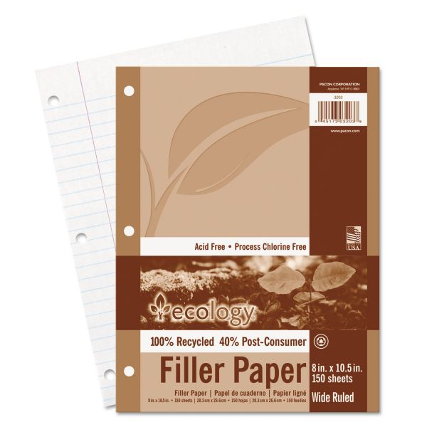 Pacon Ecology Recycled Filler Paper