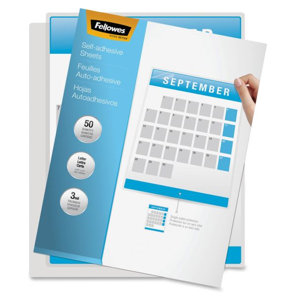 Fellowes Self Adhesive Laminating Sheets