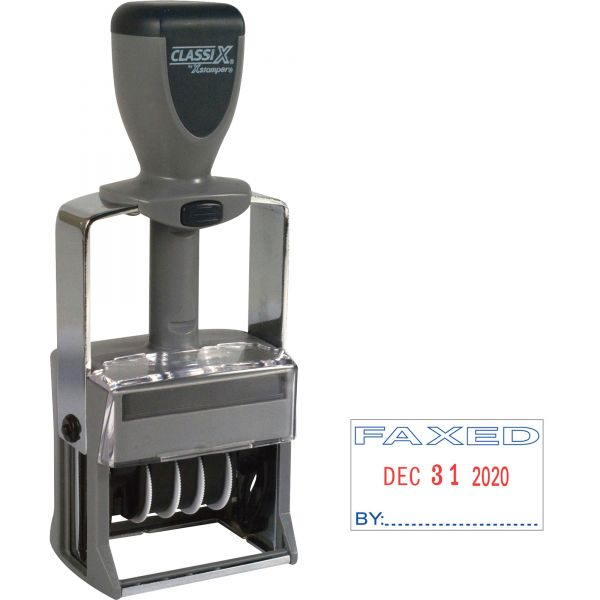 Xstamper Heavy-duty FAXED Self-Inking Line Dater