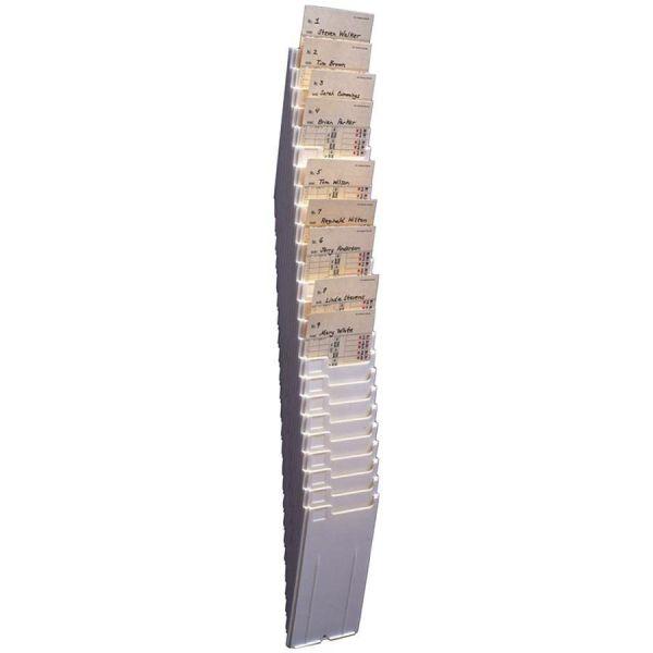 Acroprint 25-Pocket Expanding Time Card Rack, Plastic, Black