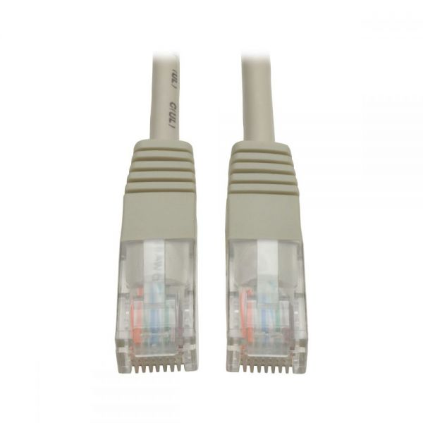 Tripp Lite 1ft Cat5e / Cat5 350MHz Molded Patch Cable RJ45 M/M Gray 1'