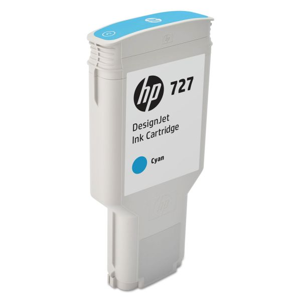 HP 727 Cyan Ink Cartridge (F9J76A)
