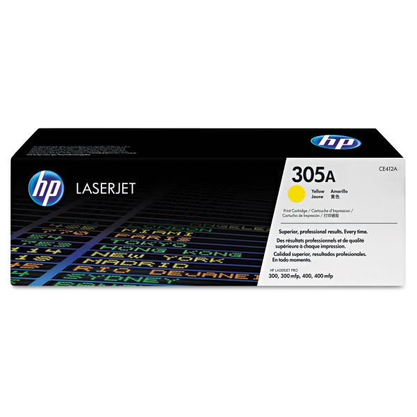 HP 305A Yellow Toner Cartridge (CE412AG)