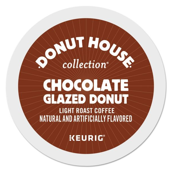 Donut House Chocolate Glazed Donut Coffee K-Cups