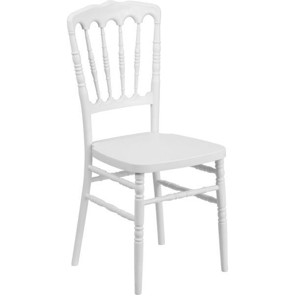 Flash Furniture White Resin Napoleon Chair