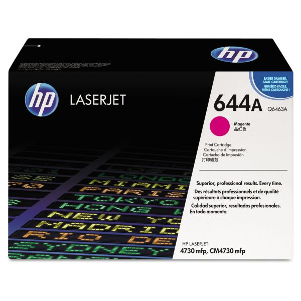 HP 644A Magenta Toner Cartridge (Q6463A)