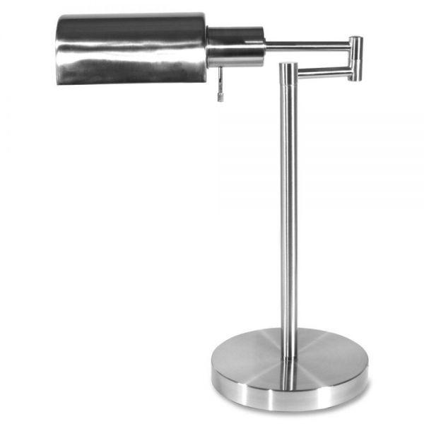 "Ledu Adjustable Full Spectrum Table Lamp, Brushed Steel, 15-1/2"" High"