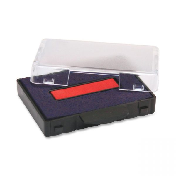 Identity Group T5440 Dater Replacement Ink Pad, 1 1/8 x 2, Blue/Red