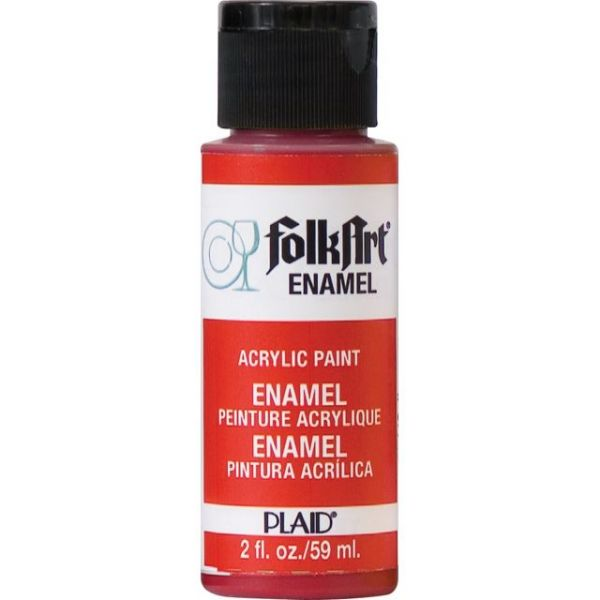 Folk Art Enamels Engine Red Acrylic Paint