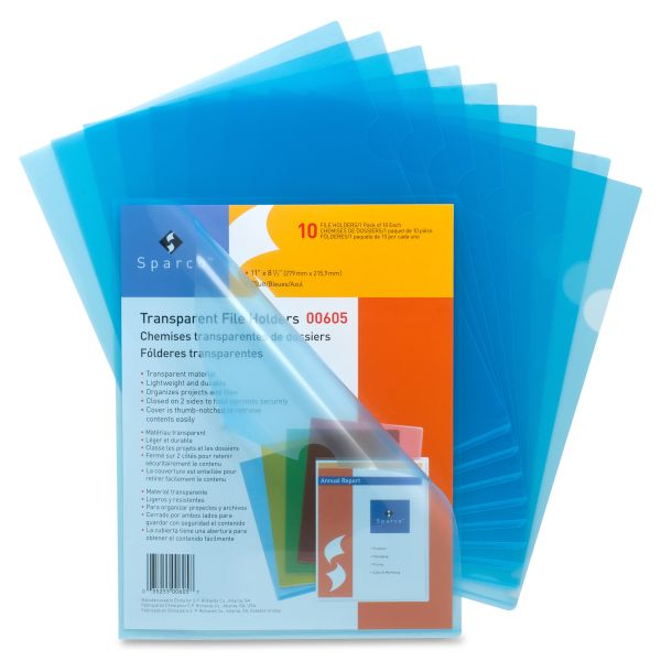 Sparco Transparent File Holders