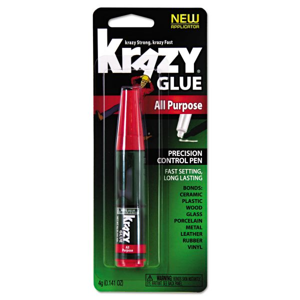 Krazy Glue All Purpose Krazy Glue, 4 g, Clear