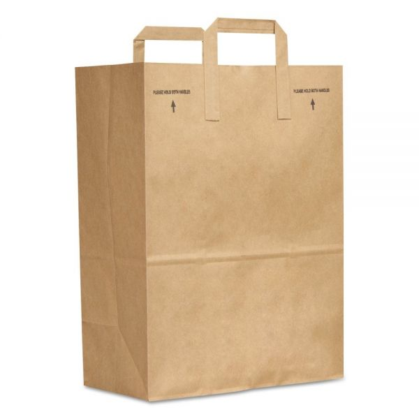 General 1/6 BBL Brown Paper Grocery Bags with Handles