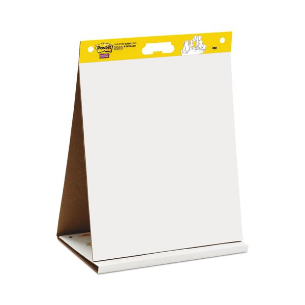 Post-it Easel Pads Self Stick Tabletop Easel Unruled Pad, 20 x 23, White, 20 Sheets