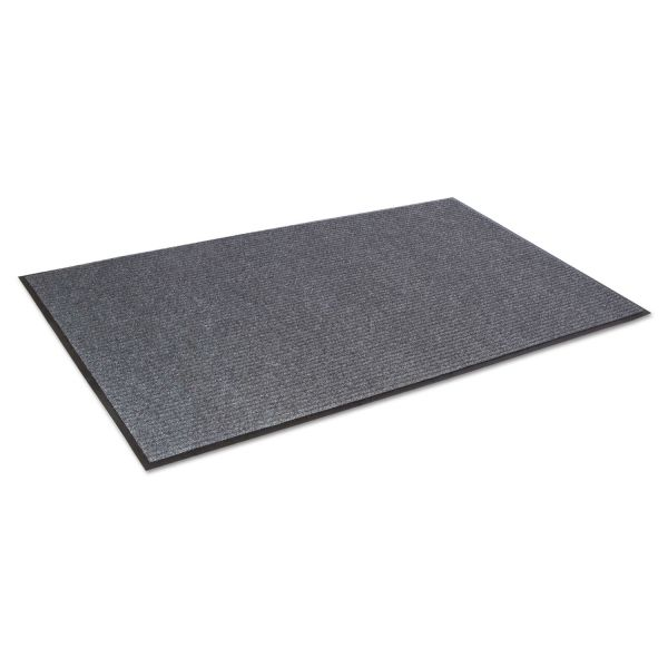 Crown Needle Rib Wipe & Scrape Mat, Polypropylene, 36 x 60, Gray