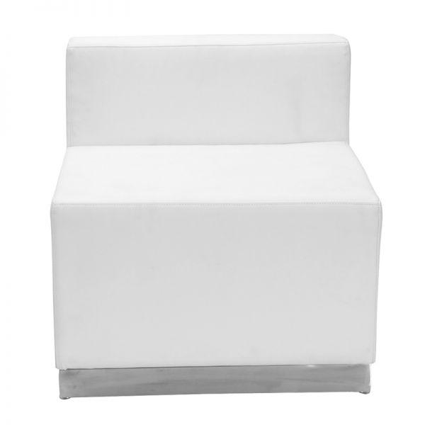 Flash Furniture Alon Series White Leather Chair