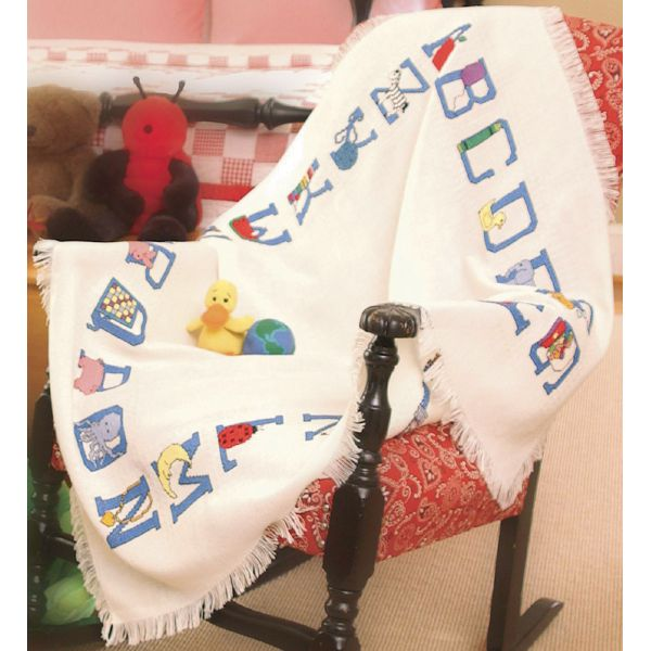 "Baby Alphabet Afghan 18 Count 41""X45"""