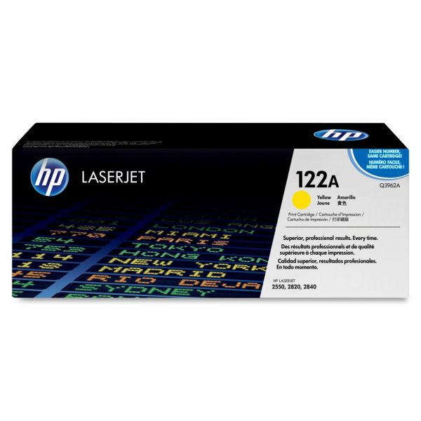 HP 122A Yellow Toner Cartridge (Q3962A)
