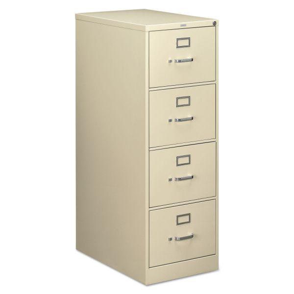 HON 210 Series 4 Drawer Locking Vertical Filing Cabinet