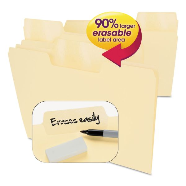 Smead Erasable SuperTab Manila File Folders