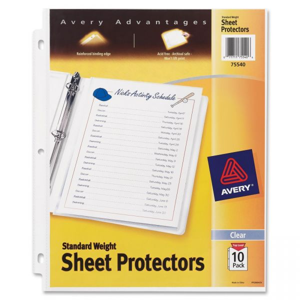 Avery Top Loading Standard Weight Sheet Protectors