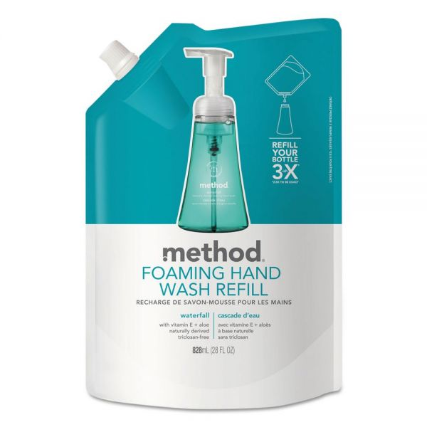 Method Foaming Hand Wash Refill, Waterfall, 28 oz Pouch
