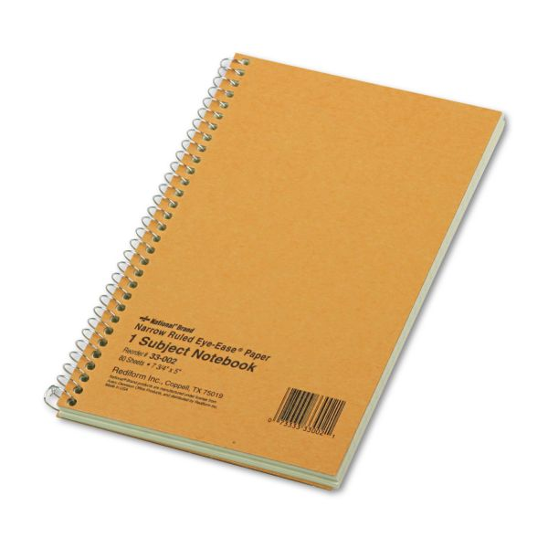 Rediform Brown Board 1-Subject Notebooks