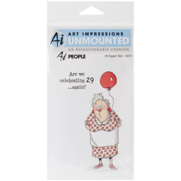 """Art Impressions People Cling Rubber Stamp 7""""X4"""""""