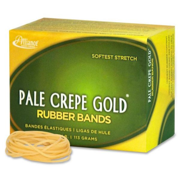 Pale Crepe Gold #16 Rubber Bands
