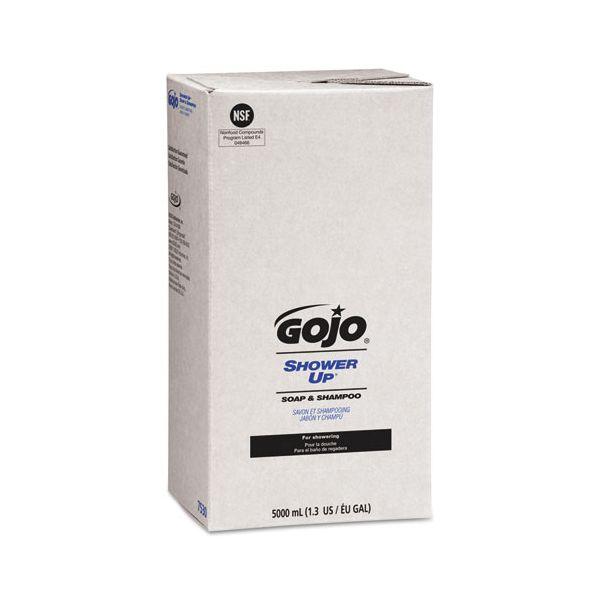 GOJO SHOWER UP Soap & Shampoo, Pleasant Scent, Rose Color, 5000mL Refill, 2/Carton