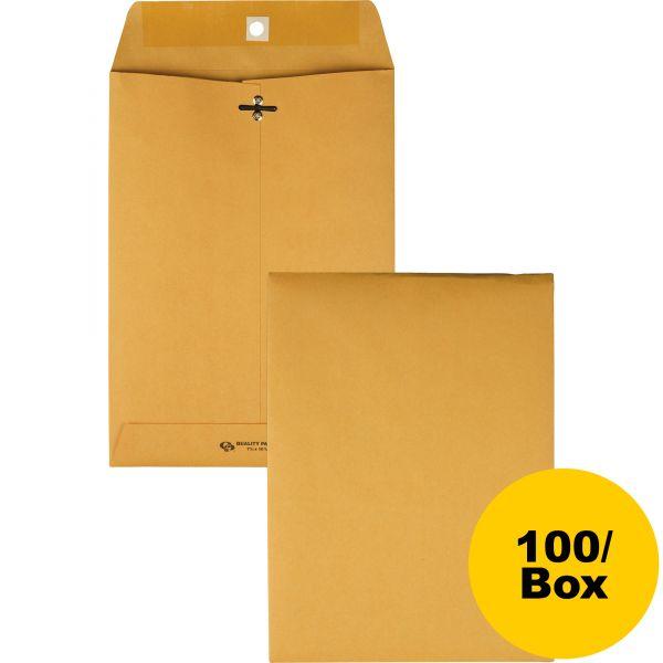 """Quality Park Gummed 7 1/2"""" x 10 1/2"""" Clasp Envelopes"""
