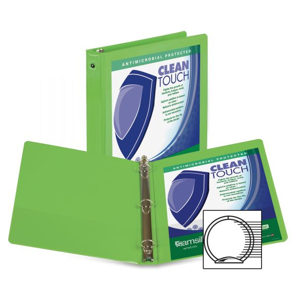 "Samsill Clean Touch 1"" 3-Ring View Binder"