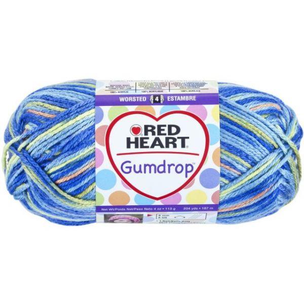 Red Heart Gumdrop Yarn - Blueberry