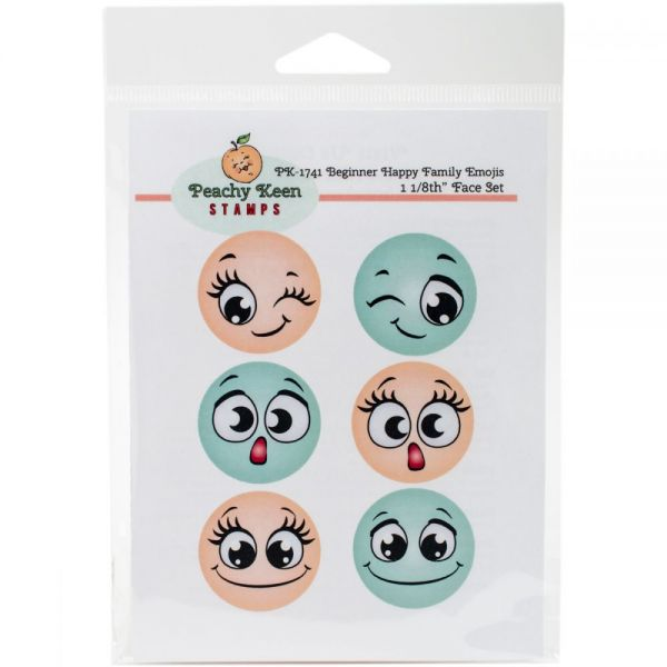 Peachy Keen Stamps Clear Face Set 6/Pkg