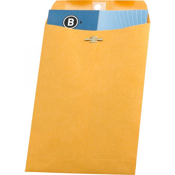 "Business Source Gummed 6 1/2"" x 9 1/2"" Clasp Envelopes"