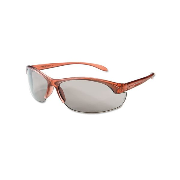 Honeywell Uvex Women's Eyewear, Dusty Rose Frame, TSR-Gray Anti-Scratch Lens, One Size, 10/Box