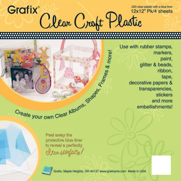 "Craft Plastic Sheets 12""X12"" 4/Pkg"