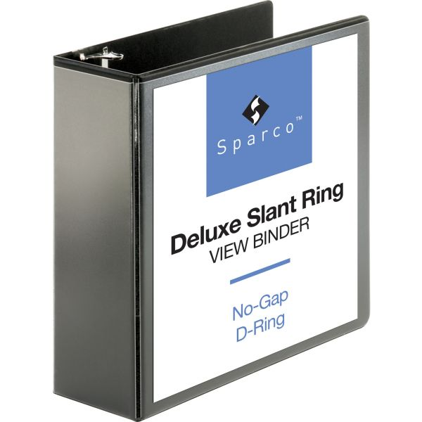 "Sparco Deluxe 4"" 3-Ring View Binder"
