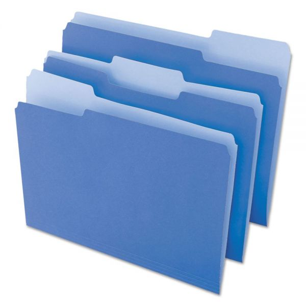 Universal Blue Colored File Folders