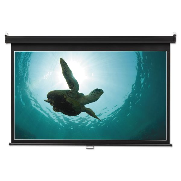 Quartet Wide Format Wall Mount Projection Screen, 65 x 116, White