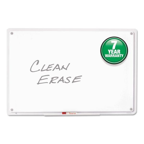 Quartet iQTotal Erase Board, 11 x 7, White, Clear Frame