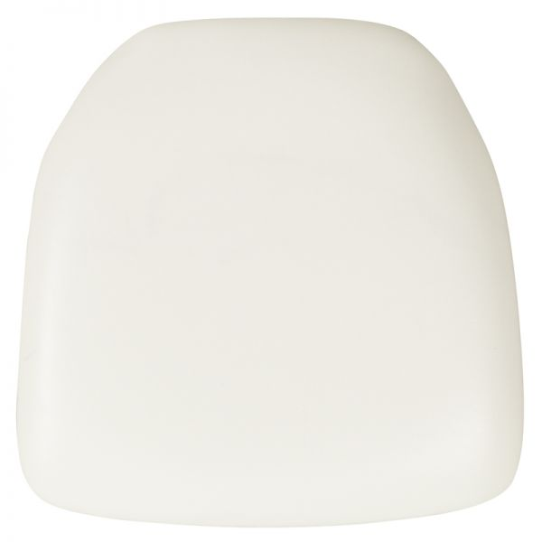 Flash Furniture Hard White Vinyl Chiavari Chair Cushion