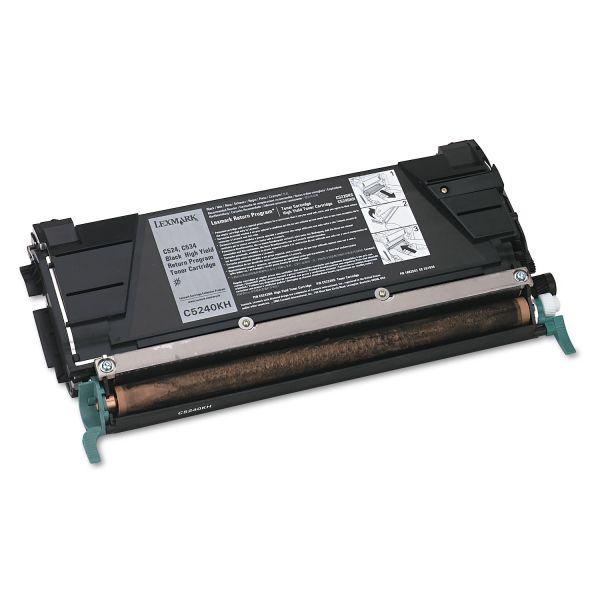 Lexmark C5240KH Black High Yield Return Program Toner Cartridge