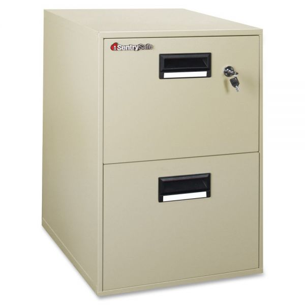 Sentry Safe FIRE-SAFE Two-Drawer Water-Resistant File Cabinet