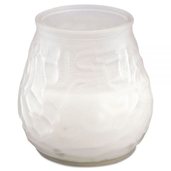 "FancyHeat Victorian Filled Glass Candles, 60 Hour Burn, 3 3/4""h, Frost White"