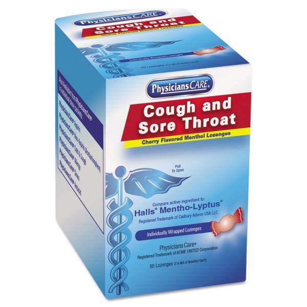 PhysiciansCare Cough & Sore Throat Menthol Lozenges