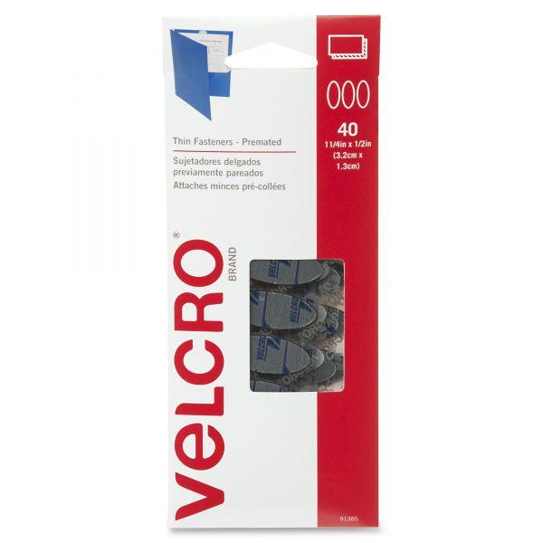 Velcro Oval Hook and Loop Fasteners, 7 1/4 x 3, Black, 40/Pack