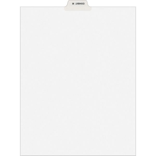Avery-Style Preprinted Legal Bottom Tab Dividers, Exhibit M, Letter, 25/Pack