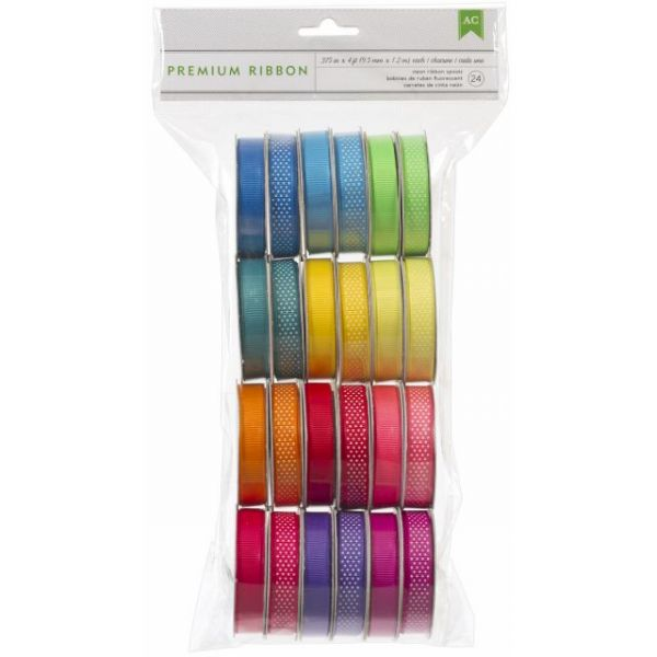 "Premium Ribbon Value Pack .375""X4' 24/Pkg"