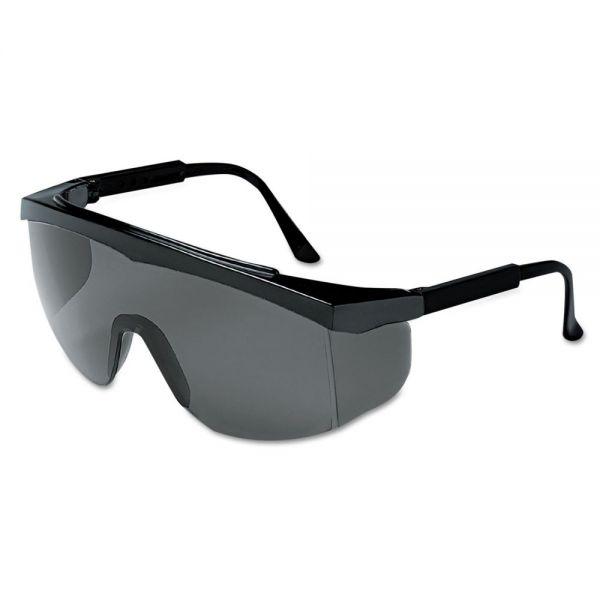 Crews Stratos Spectacles, Black Frame, Gray Lens